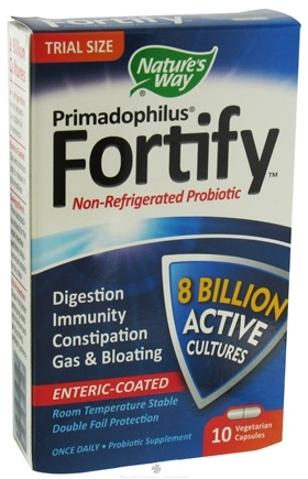 DROPPED: Nature's Way - Primadophilus Fortify Trial Size - 10 Capsules