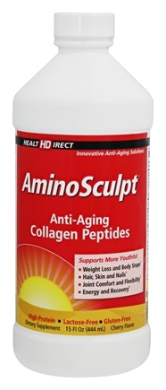 Health Direct - AminoSculpt Anti-Aging Collagen Peptides Cherry Flavor - 15 oz.
