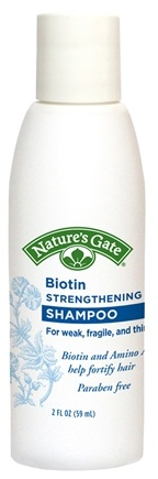 DROPPED: Nature's Gate - Shampoo Strengthening Biotin Trial Size - 2 oz.