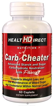 DROPPED: Health Direct - Carb Cheater With Phase 2 - 60 Caplets
