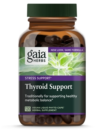 Gaia Herbs - Thyroid Support Liquid Phyto-Caps - 120 Vegetarian Capsules