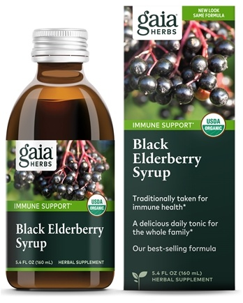 Gaia Herbs - Rapid Relief Immune Support Black Elderberry Syrup - 5.4 oz.