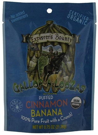 DROPPED: Explorer's Bounty - Organic Gallop A Loozas Puffed Cinnamon Banana - 0.75 oz.