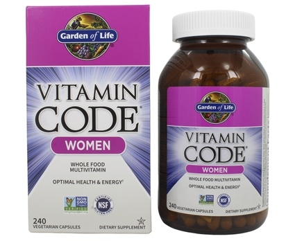 Buy garden of life vitamin code raw women 39 s multi formula 240 vegetarian capsules at for Garden of life once daily women s probiotic