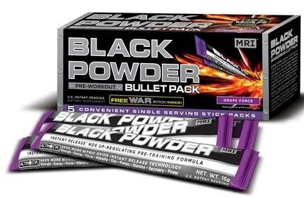 DROPPED: MRI: Medical Research Institute - Black Powder Pre Workout Bullet Pack Grape Force - 5 Pack(s) CLEARANCE PRICED