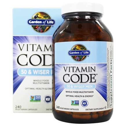 Zoom View - Vitamin Code RAW 50 & Wiser Men's Multi Formula
