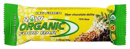 DROPPED: Organic Food Bar - Raw Fiber Chocolate Delite - 1.76 oz.