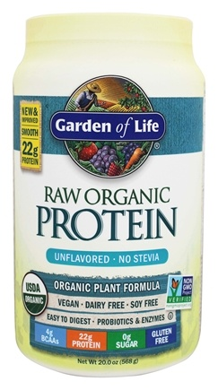 Garden of Life - RAW Organic Protein Unflavored - 20 oz.