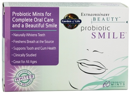 DROPPED: Garden of Life - Extraordinary Beauty Probiotic Smile - 60 Piece(s)