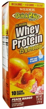 Zoom View - Quick2Sip Whey Protein Drink Mix Singles