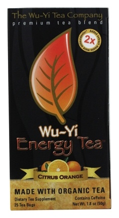 Wu-Yi Tea Company - Wu-Yi Energy Tea Citrus Orange - 25 Tea Bags
