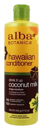 Alba Botanica - Alba Hawaiian Hair Conditioner Extra-Rich Coconut Milk - 12 oz.