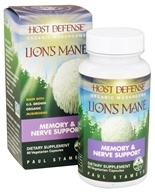 Image of Fungi Perfecti - Host Defense Lion's Mane Brain & Nerve Support - 60 Vegetarian Capsules