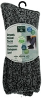 Image of Earth Therapeutics - Organic Casual Socks Men's Size 10-13 Charcoal Black