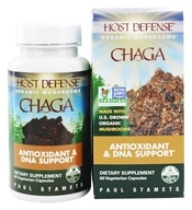 Image of Fungi Perfecti - Host Defense Chaga Anti-Inflammatory Support - 60 Vegetarian Capsules