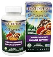 Fungi Perfecti - Host Defense MyCommunity Comprehensive Immune Support - 120 Vegetarian Capsules