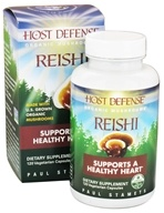 Image of Fungi Perfecti - Host Defense Reishi General Wellness Support - 120 Vegetarian Capsules