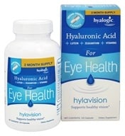 Hyalogic - HylaVision Eye Health with Hyaluronic Acid, Lutein, Zeaxanthin & Vitamins - 120 Capsules