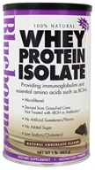 Bluebonnet Nutrition - 100% Natural Whey Protein Isolate Powder Natural Chocolate Flavor - 1 lb.