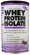 Bluebonnet Nutrition - 100% Natural Whey Protein Isolate Powder Natural Mixed Berry Flavor - 1 lb.