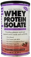 Bluebonnet Nutrition - 100% Natural Whey Protein Isolate Powder Natural Strawberry Flavor - 1 lb.