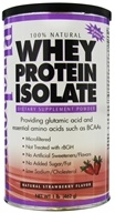 Bluebonnet Nutrition - 100% Natural Whey Protein Isolate Powder Natural Strawberry Flavor - 1 lb. by Bluebonnet Nutrition