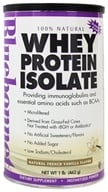 Bluebonnet Nutrition - 100% Natural Whey Protein Isolate Powder Natural French Vanilla Flavor - 1 lb. - $27.16