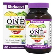 Bluebonnet Nutrition - Maxi One Iron-Free - 60 Caplets, from category: Vitamins & Minerals