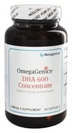 Metagenics - OmegaGenics DHA 600 Concentrate Natural Lemon Flavor - 90 Softgels (formerly High DHA)