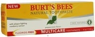 Image of Burt's Bees - Natural Toothpaste Multicare Fluoride-Free Peppermint - 4 oz.