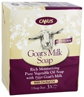 Canus - Goat's Milk Bar Soap with Orchid Oil - 3 x 5 oz. Soap Bars (779242003956)