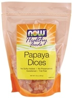 NOW Foods - Healthy Foods Dices Papaya - 16 oz. (733739057228)