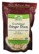 NOW Foods - Healthy Foods Dices Crystallized Ginger - 16 oz. (733739056962)