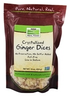 Image of NOW Foods - Healthy Foods Dices Crystallized Ginger - 16 oz.