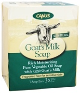 Canus - Goat's Milk Bar Soap Fragrance Free - 3 x 5 oz. Soap Bars - $5.89