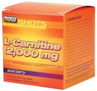 NOW Foods - Shots L-Carnitine 12 x .5 oz. Acai Berry - $15.49