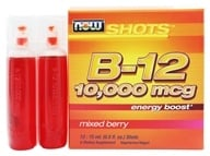 Image of NOW Foods - Shots B-12 Energy Boost 12 x .5 oz. Shots Mixed Berry