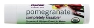 Image of NOW Foods - Solutions Completely Kissable All Natural Lip Balm Pomegranate - 0.15 oz.