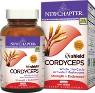 New Chapter - LifeShield Cordyceps Strength & Endurance 100% Vegan - 60 Vegetarian Capsules
