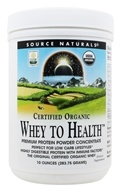 Source Naturals - Whey To Health Premium Protein Powder Concentrate Certified Organic - 10 oz. DAILY DEAL