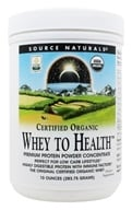 Source Naturals - Whey To Health Premium Protein Powder Concentrate Certified Organic - 10 oz. DAILY DEAL, from category: Sports Nutrition