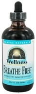 Image of Source Naturals - Wellness Breathe Free Respiratory Immune Defense Cherry Flavor - 8 oz.