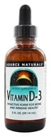 Source Naturals - Vitamin D-3 Bioactive Form - 2 oz. by Source Naturals