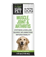 King Bio - Natural Pet Muscle, Joint & Arthritis Reliever For Canines Large - 4 oz. by King Bio