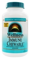 Source Naturals - Wellness Immune Chewable Defense Complex Berry Flavor - 60 Chewable Wafers