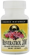 Source Naturals - Resveratrol 200 200 mg. - 30 Tablets - $10.92