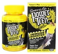 Image of Nature's Plus - Source Of Life Power Teen Immune Booster Antioxidant Natural Wild Berry Flavor - 60 Chewable Tablets