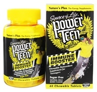 Nature's Plus - Source Of Life Power Teen Immune Booster Antioxidant Natural Wild Berry Flavor - 60 Chewable Tablets