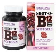 Image of Nature's Plus - Shot-O-B12 High Potency 5000 mcg. - 30 Softgels