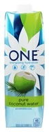 O.N.E. - Coconut Water 100% Natural Fat Free 1 Liter Unflavored - 33.8 fl. oz.
